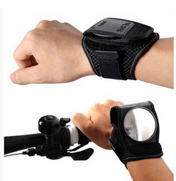 safety devise, travel, bike accessory, bicylce, cycle, scooter, arm wrist band, reflector, rear view mirror, adjustable