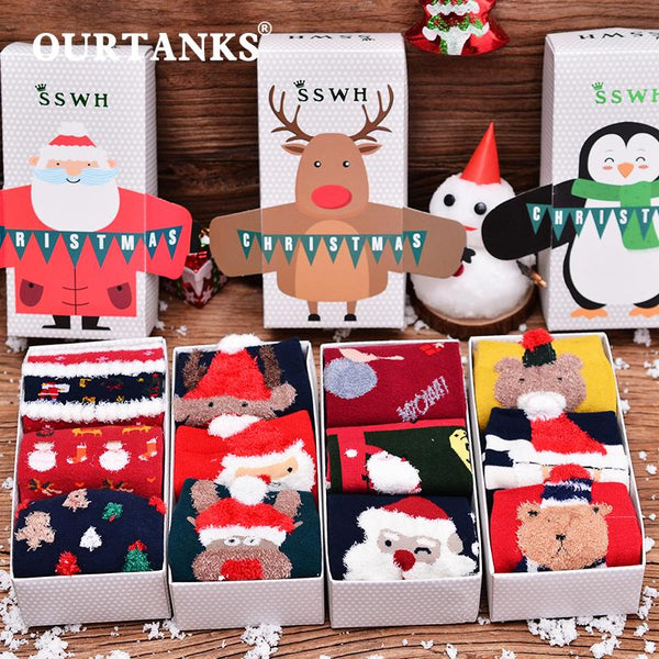 Autumn And Winter Cute Christmas Socks For Female