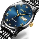Analog Mechanical Stainless Steel Watch With Jubilee Bracelet