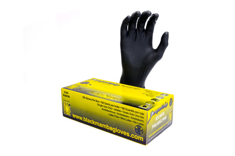 Orange Mamba Nitrile Gloves