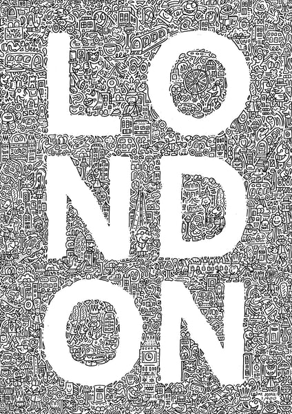 'London' A3 digital print (limited edition of 400)