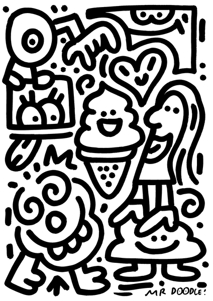 'Holy Ice Cream' original drawing