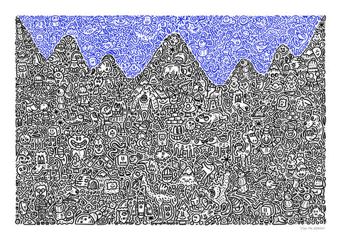 'Mountain Mania' Giclee Print Limited Edition of 150