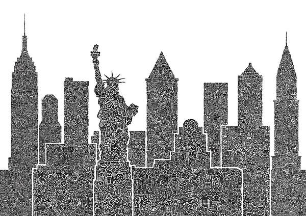 'New York Doodled' A3 digital print (limited edition of 50)