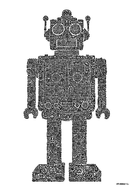 'Doodlebot' A3 digital print (limited edition of 250)