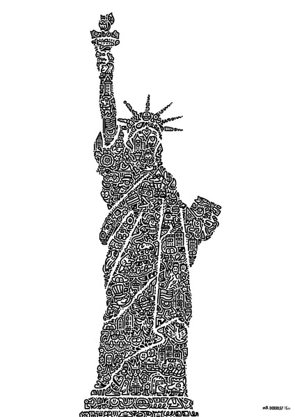 'Doodle of Liberty' A3 digital print (limited edition of 250)