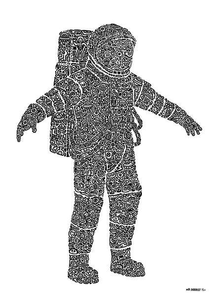 'Astrodoodle' A3 digital print (limited edition of 250)