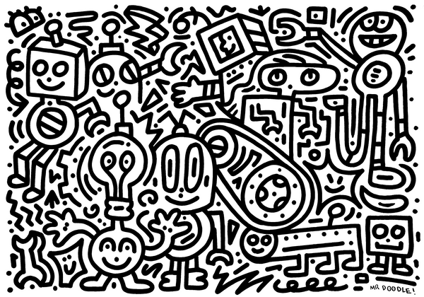 'Groovy Gears' original drawing
