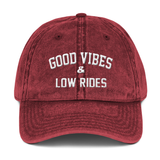 Good Vibes & Low Rides Dad Hat