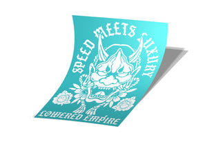 Lowered Empire Hannya Rear Windshield Banner ( Different Sizes)