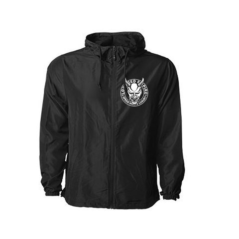 Oni Mask Windbreaker w/Hood -Black