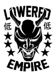 "12"" Lowered Empire Oni Mask Decal"