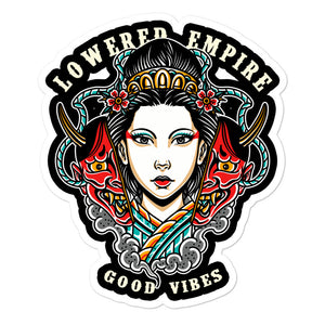 Good Vibes Hannya Bubble-free stickers