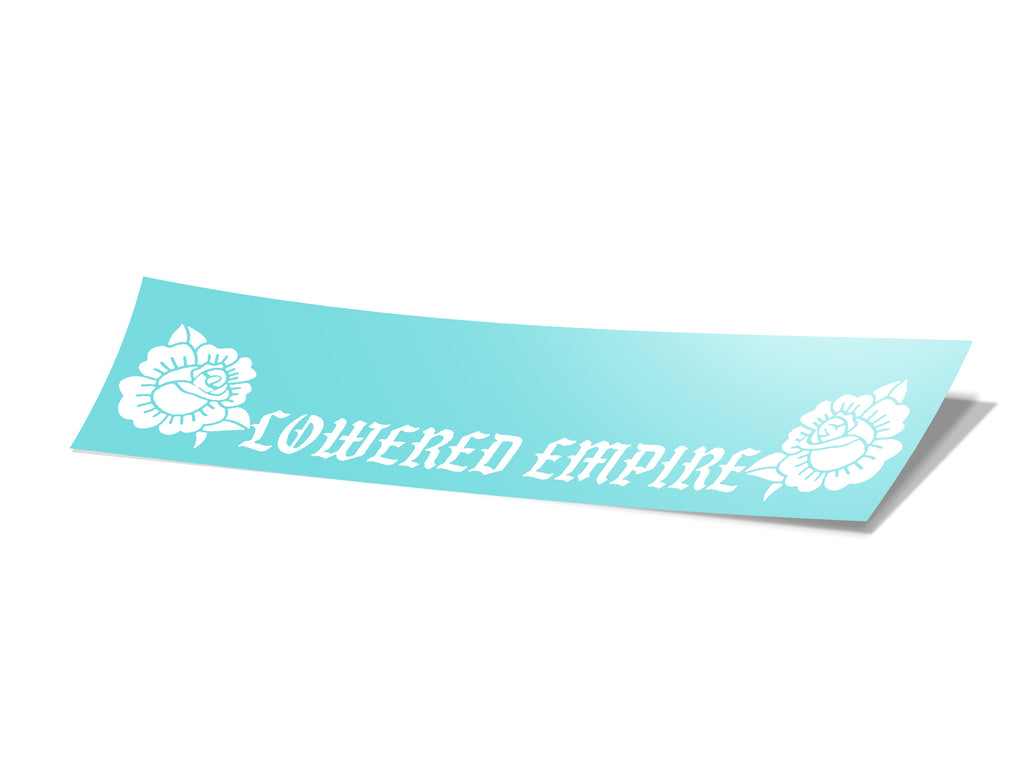 Lowered Empire Roses Decal 12""