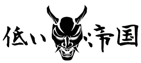 "12"" Japanese Oni Mask Decal"