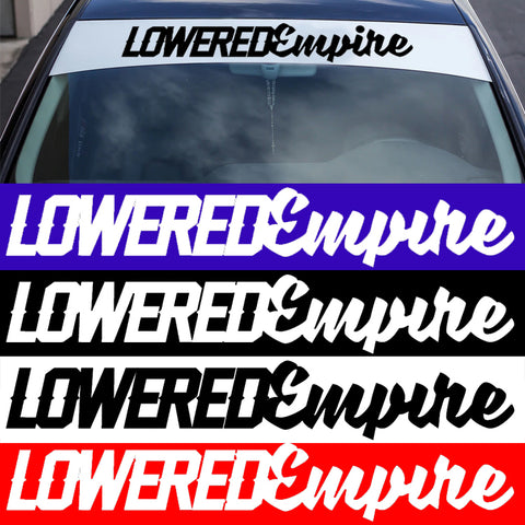 "32"" Lowered Empire Windsheild Banner"