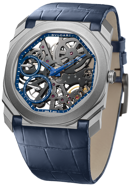 Bulgari Octo Finissimo Sandblasted Titanium Skeleton Extra Thin Limited Edition 102941