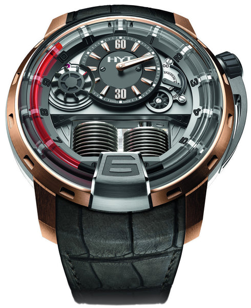 HYT H1 Red 2 Titanium Rose Gold Bezel HYT 48.8mm 148-TG-02-RF-RU