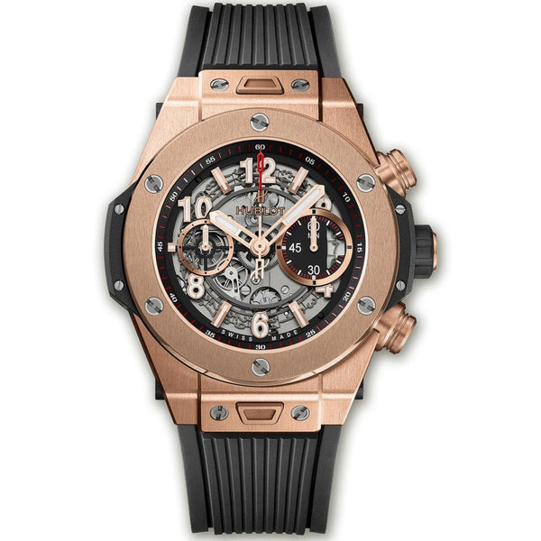 Hublot Big Bang Unico King Gold Flyback Chronograph Skeleton - 45mm - 411.OX.1180.RX - New - 2019 - Watches World