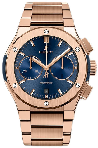 Hublot Classic Fusion Blue Chronograph King Gold Bracelet - Watches World