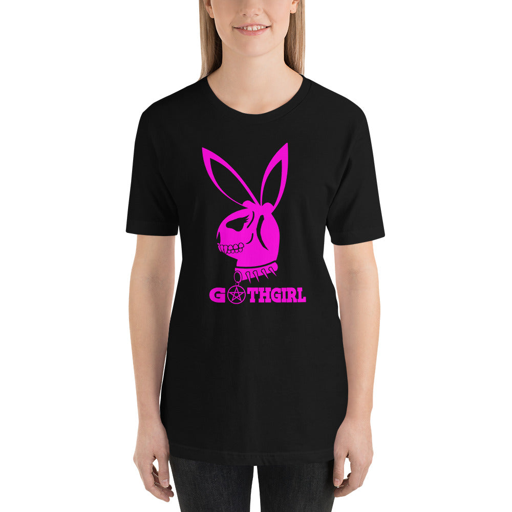 GOTH BUNNY PINK Short-Sleeve Unisex T-Shirt