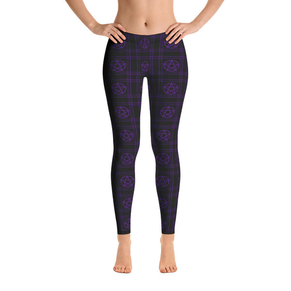 PURPLE PENTAPLAID Leggings