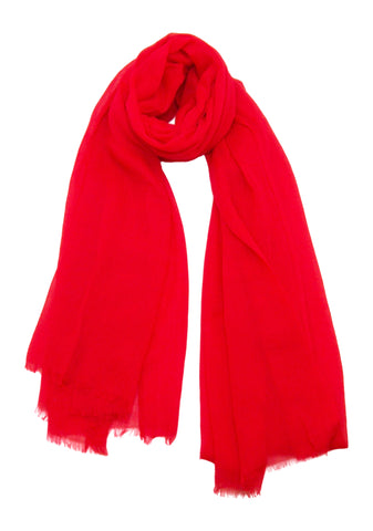 Blue Pacific Bright Red Scarf