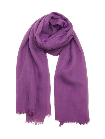 Blue Pacific Silk and Linen Purple Scarf