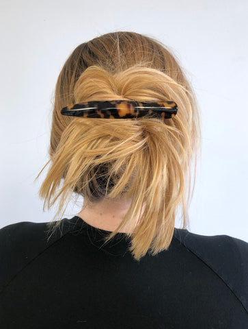 Ficcare Bella Beak Hair Clip in French Acetate Blonde Up Do