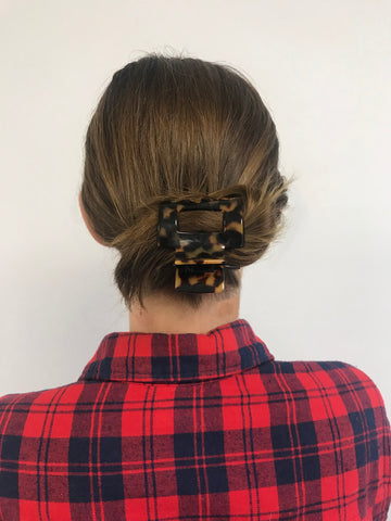 low bun ficcare open rectangle jaw clip