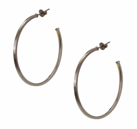 Sheila Fajl Perfect Hoop Earrings in Gunmetal