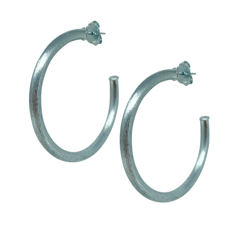 Sheila Fajl Smaller Favorite Tubular Hoop Earrings in Ice Blue