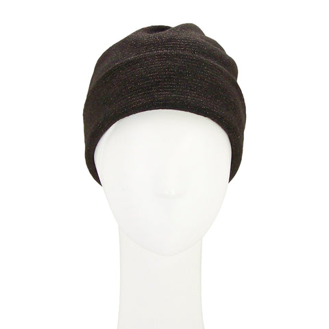Jane Tran Urban Twisted Beanie in Lurex and Brown