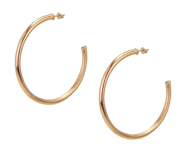 Pair of Sheila Fajl Everybody's Favorite Hoop Earrings in Rose Gold