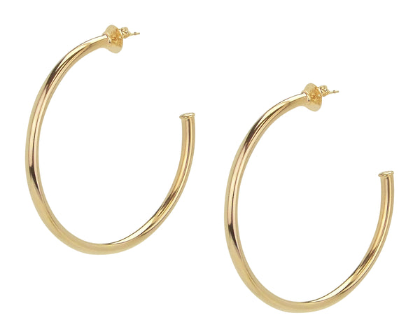 Pair of Sheila Fajl Everybody's Favorite Hoop Earrings in Polished Champagne