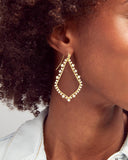 Kendra Scott Sophee Open Frame Earrings in CZ and Gold Plated