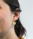 Chan Luu Petite Coin Drop Earrings in Gold Vermeil