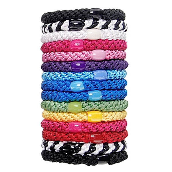 image of L.Erickson Grab and Go Pony Tube Hair Ties in Carnival 15 Pack