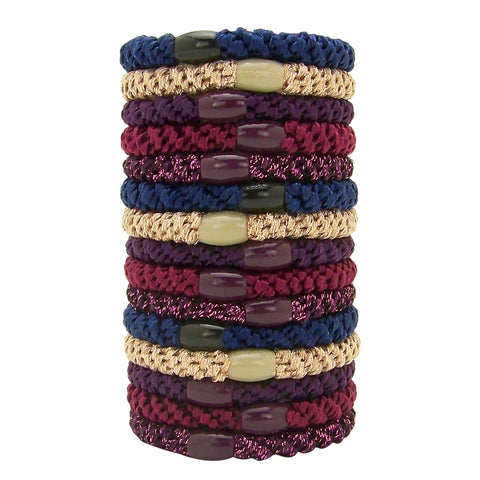 L. Erickson Grab and Go Pony Tube Hair Ties in Bejeweled 15 Pack
