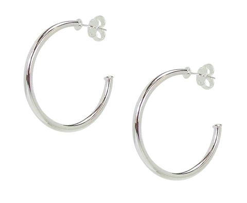 Sheila Fajl Petite Favorite Hoop Earrings in Polished Silver