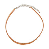 Chan Luu Choker Necklace in Silver and Tan Leather