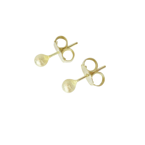 Sheila Fajl 4mm Josie Petite Stud Earrings in Brushed Gold Plated