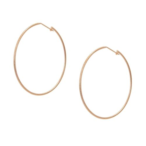 image of Sheila Fajl Lisa Featherweight Hoop Earrings in Rose Gold