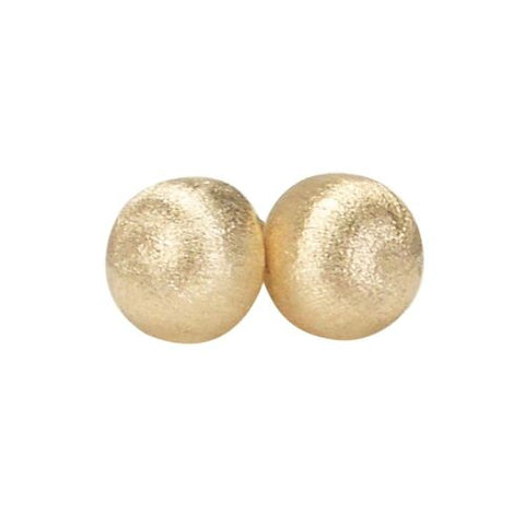 Sheila Fajl Lilou Ball Stud Earrings in Brush Champagne