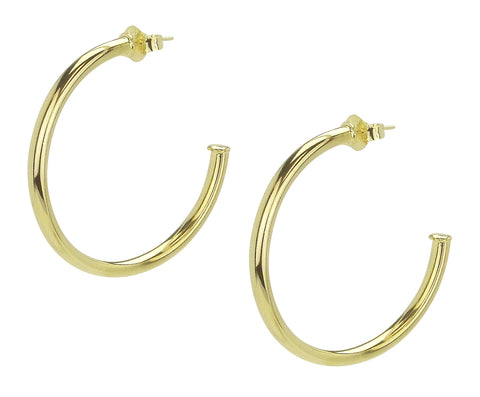 Sheila Fajl Smaller Favorite Hoop Earrings in Polished Gold