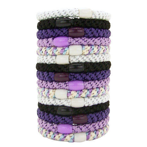 L. Erickson Grab and Go Pony Tube Hair Ties in Ultra Violet 15 Pack