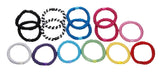 overhead image for L.Erickson Grab and Go Pony Tube Hair Ties in Carnival 15 Pack
