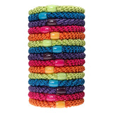 image of stacked L. Erickson Grab and Go Pony Tube Hair Ties in Candy Pack 15 Pack