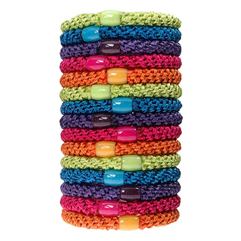 L. Erickson Grab and Go Pony Tube Hair Ties in Candy Pack 15 Pack