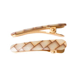 Ficcare Ficcaritos Hair Clip Pair in Shell
